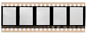 real scan of 35mm film with sound waves on the side