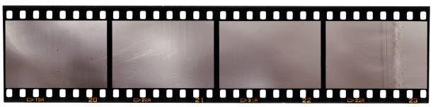 real scan of 35mm film strip or film material, just blend in your own work to make it look old and vintage real scan of 35 mm film on white photographic slide stock pictures, royalty-free photos & images