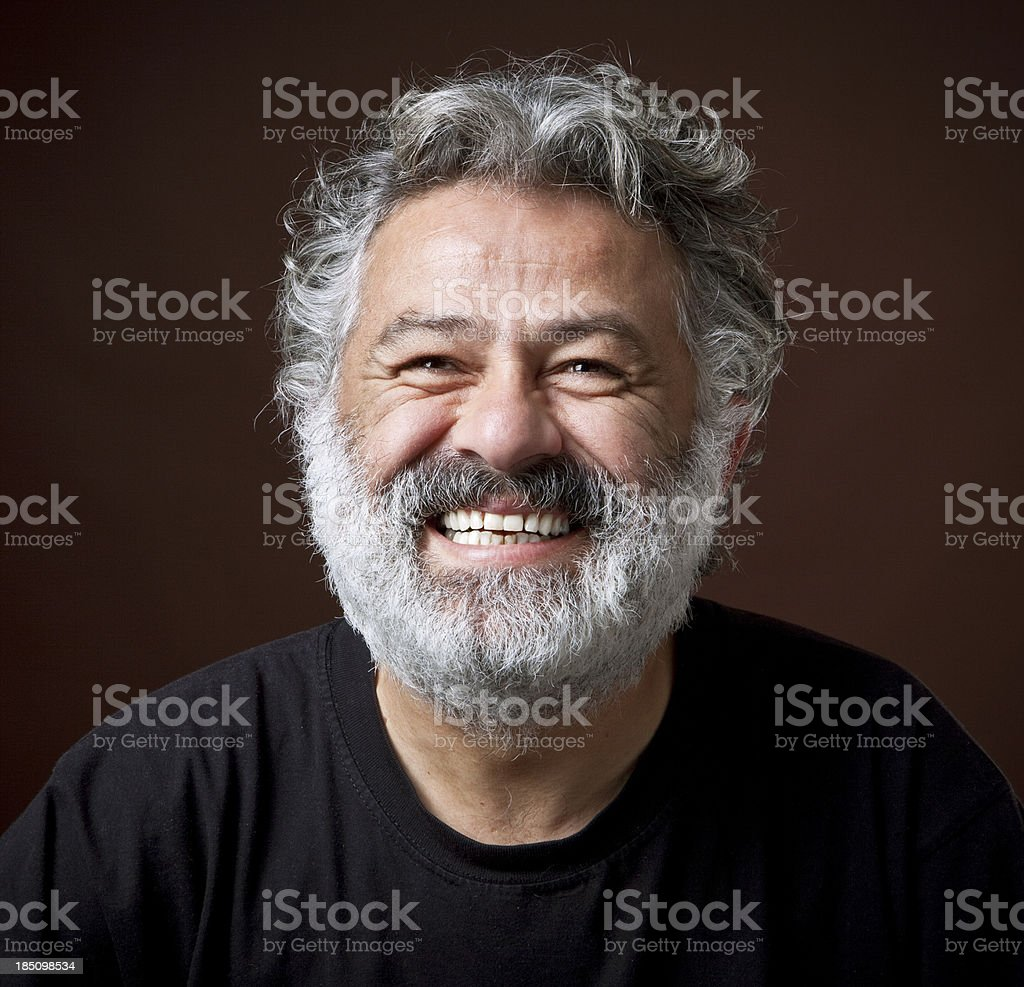 Real senior man smiling royalty-free stock photo