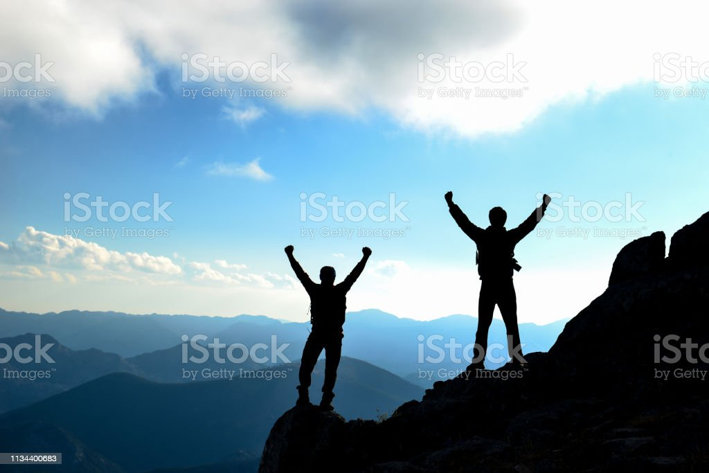 real success story and success happiness stock photo