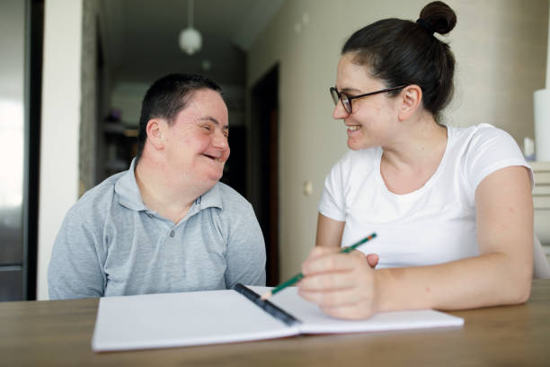 Real support Real support persons with disabilities stock pictures, royalty-free photos & images
