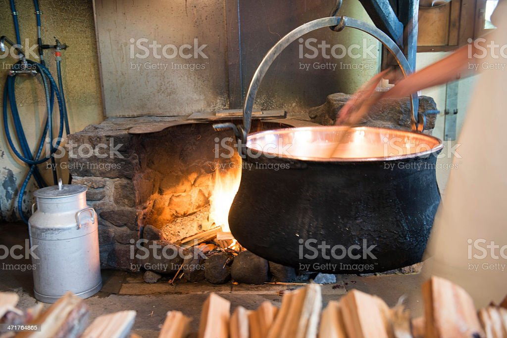 real swiss cheese made easy royalty-free stock photo
