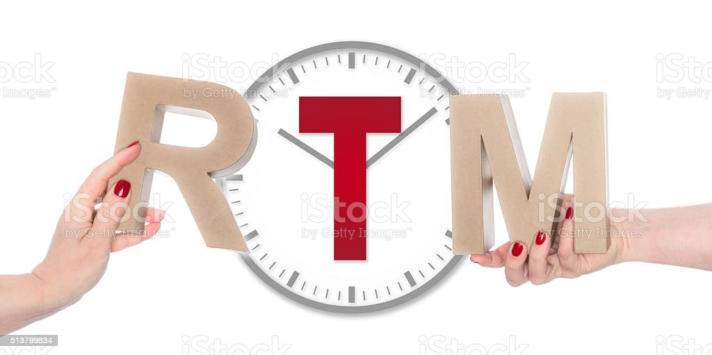 Real Time Monitor stock photo