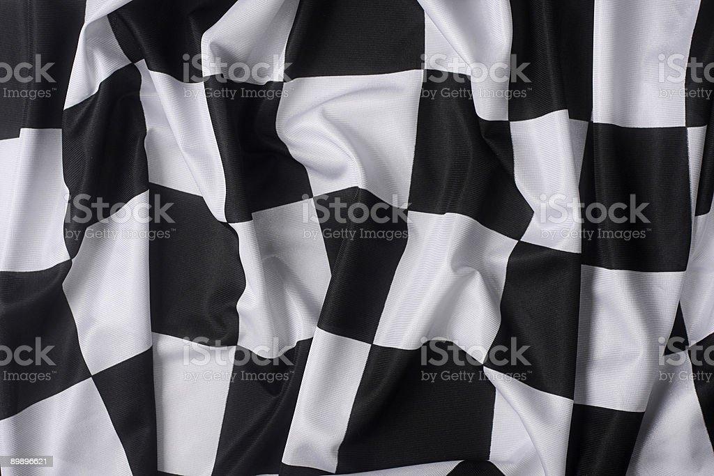 Real agitando bandera de cuadros - foto de stock