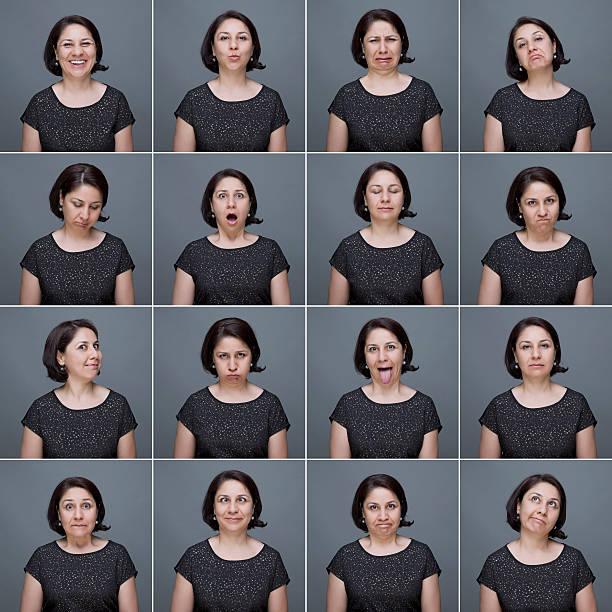 제조 참되다 여성 얼굴 표정 - 시리즈 일부 뉴스 사진 이미지