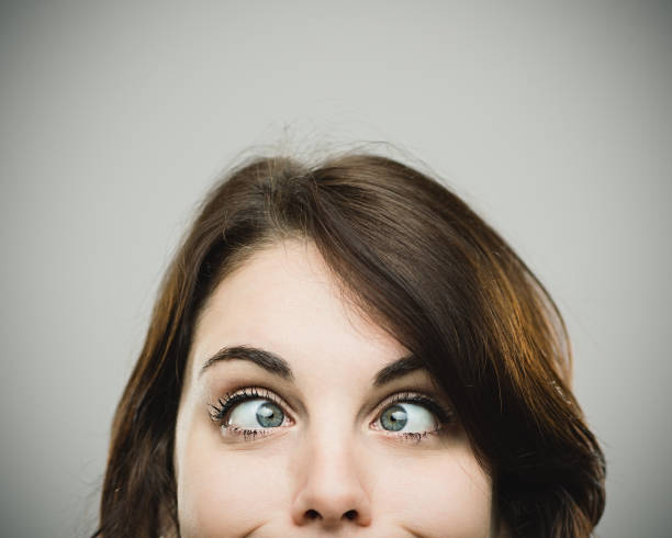 real woman making funny face - funny fat lady stock photos and pictures