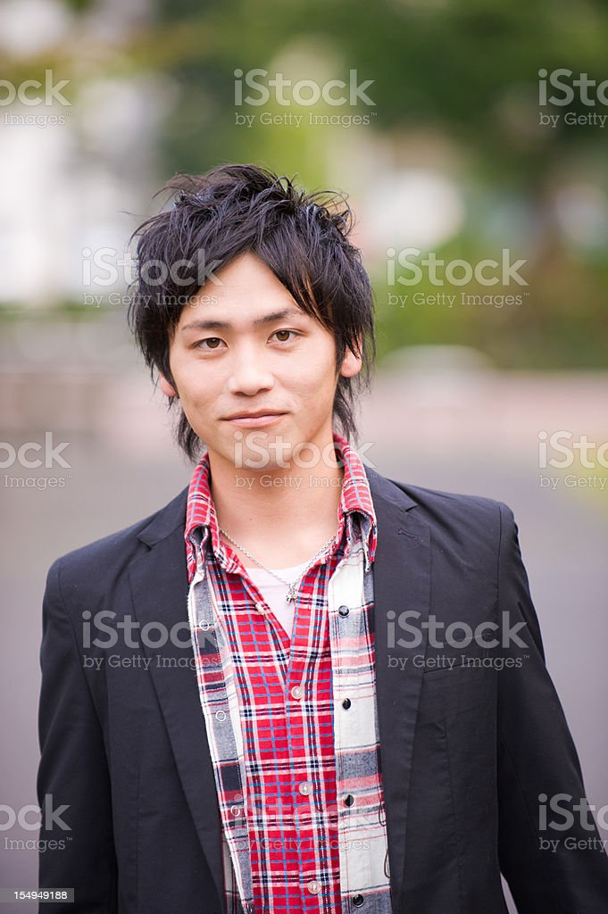 Real Young Asian Guy Portrait royalty-free stock photo