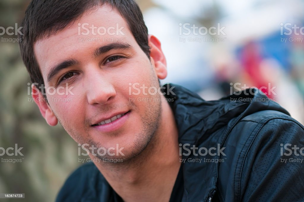 Real Young Guy Portrait royalty-free stock photo