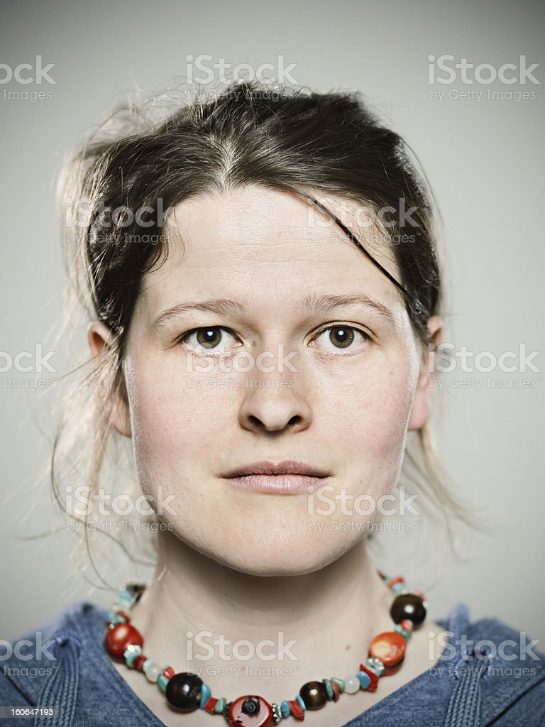 Real young woman. royalty-free stock photo