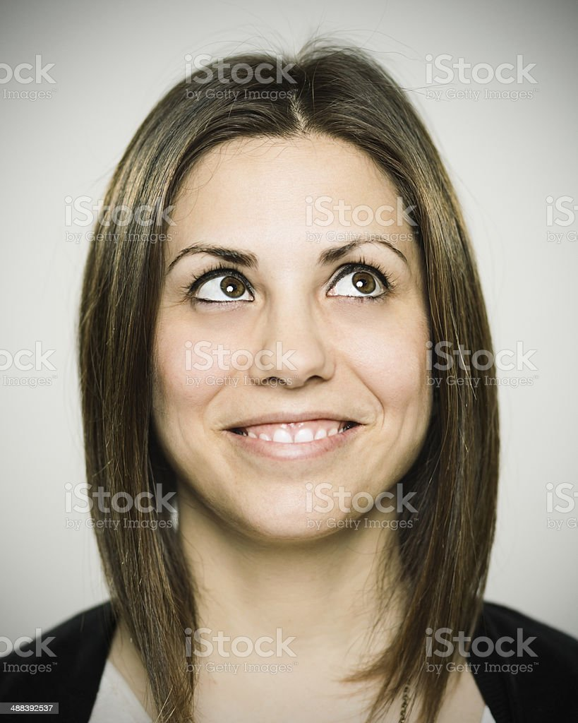 Real young woman stock photo