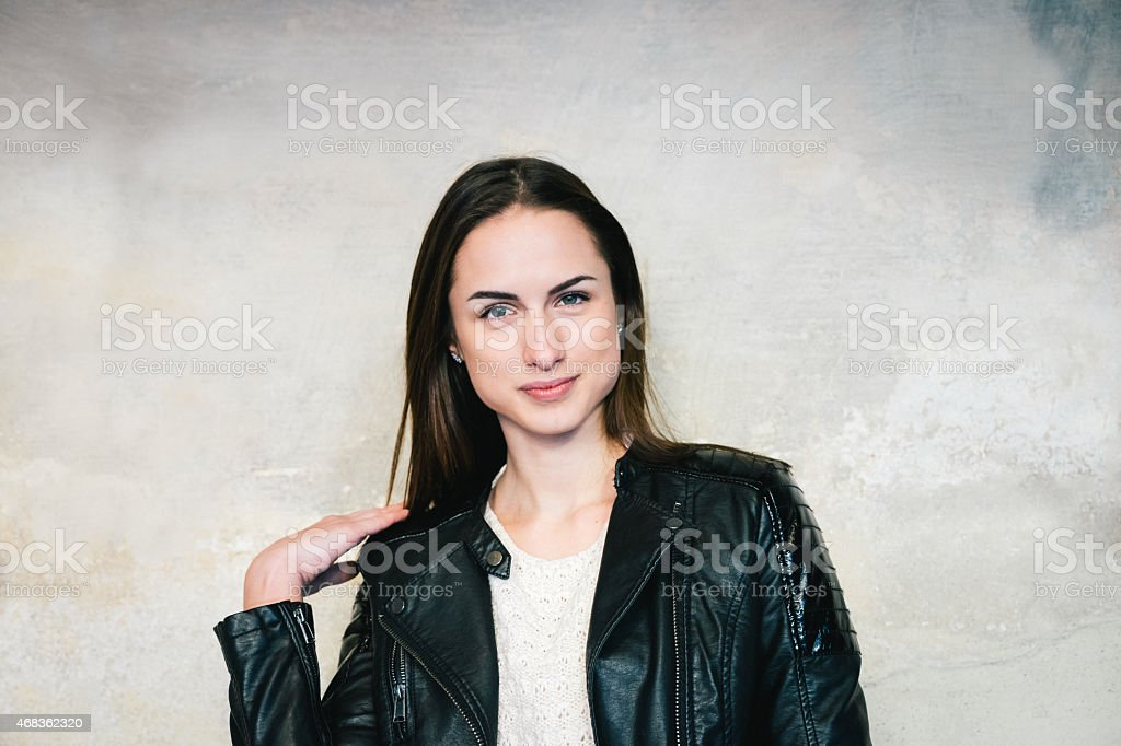 Real Young Woman Portrait royalty-free stock photo