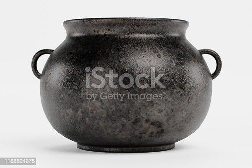 Realistic 3d Render of Cooking Pot