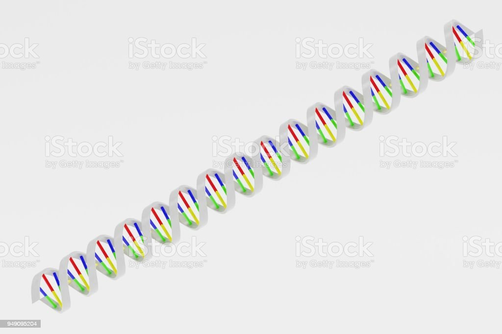 Realistic 3d Render of DNA model stock photo