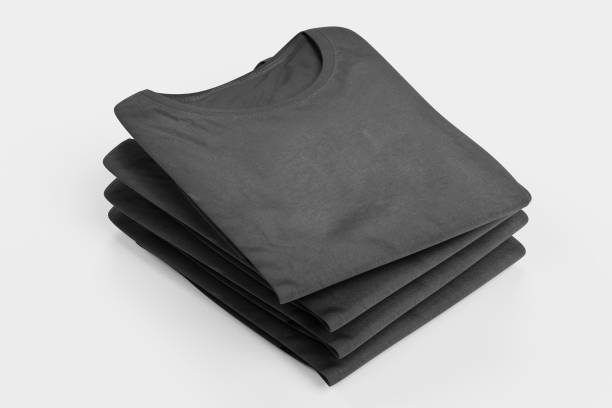 realistic 3d render of folded t-shirt - folded stock photos and pictures