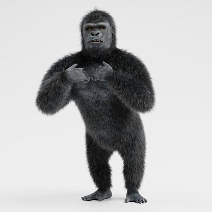Realistic 3d Render of Gorilla