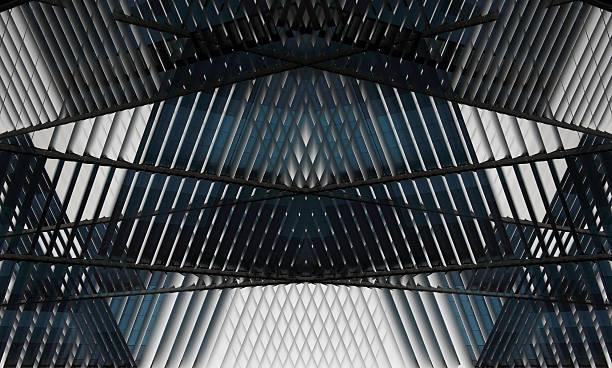 realistische (aber nicht real) architektonischen komposition mit trägern unterstützung der decke - dachschräge einrichten stock-fotos und bilder