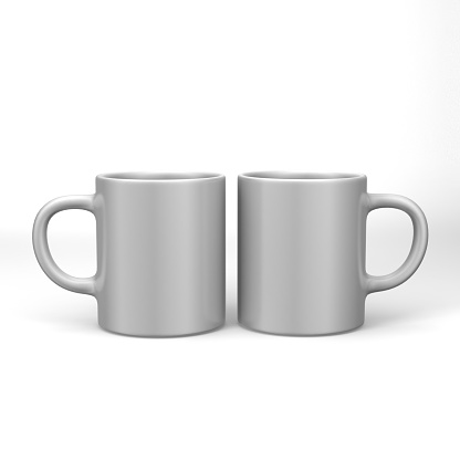 70a58edc600 Realistic Blank Ceramic White Coffee Cup And Mug Isolated On White ...