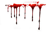 Stock photo of realistic blood dripping.