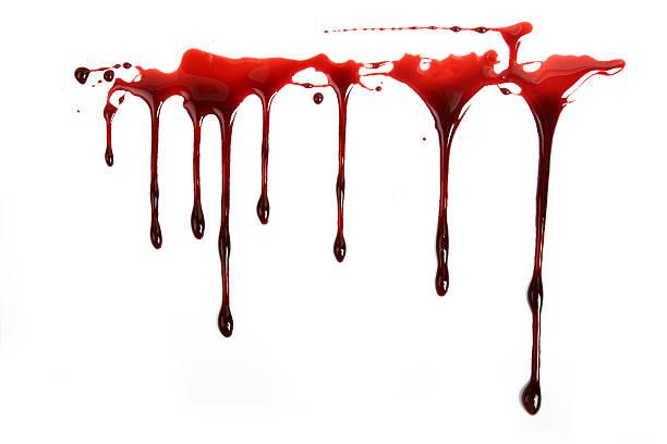 realistyczne krew kapie na białym tle - kropla zdjęcia i obrazy z banku zdjęć