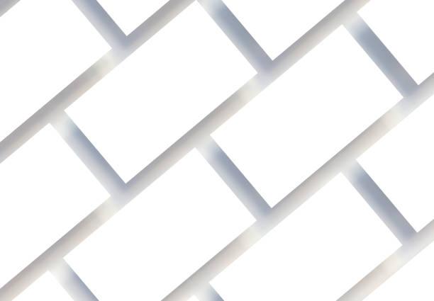 maquette de cartes de visite réalistes. vue de dessus. rendu 3d. - business card mock up photos et images de collection