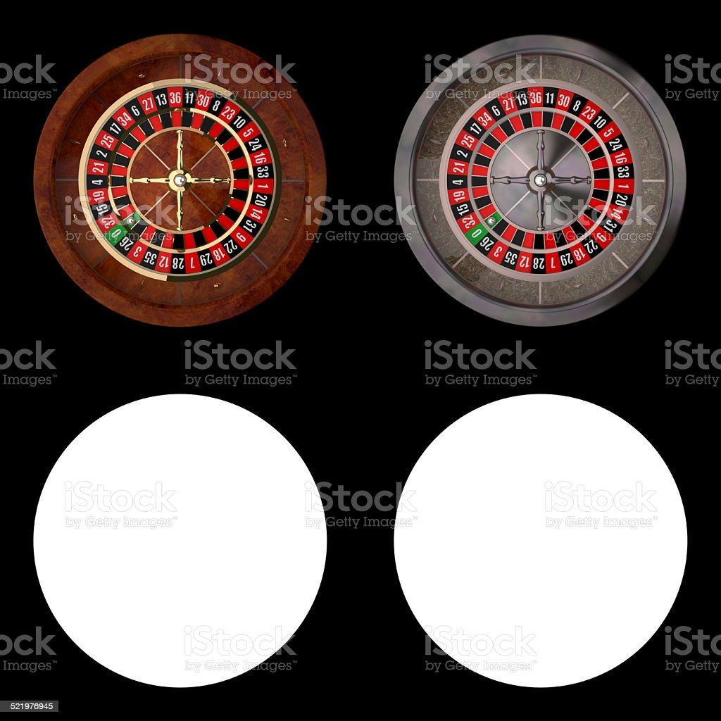 Realistic Casino Roulette stock photo