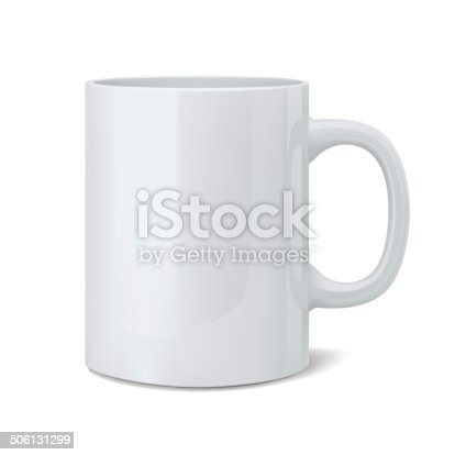 istock Realistic classic white cup 506131299