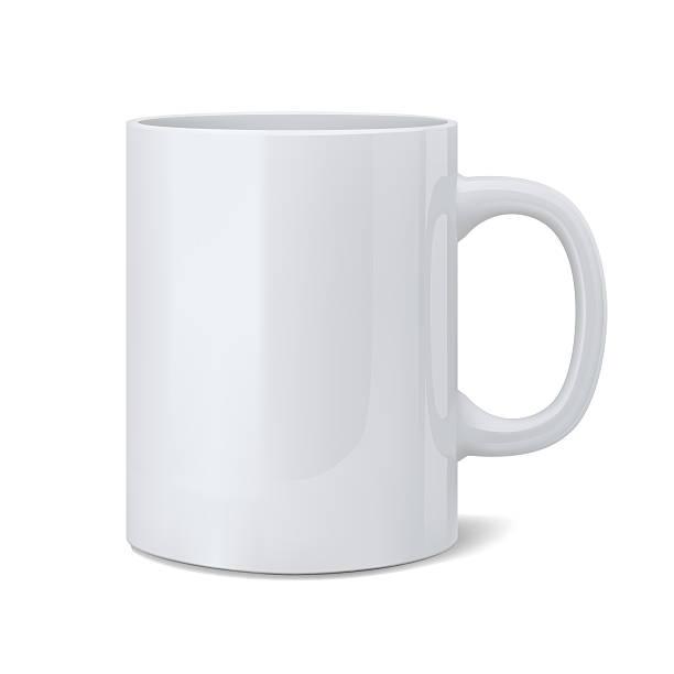 realistic classic white cup - 杯 個照片及圖片檔