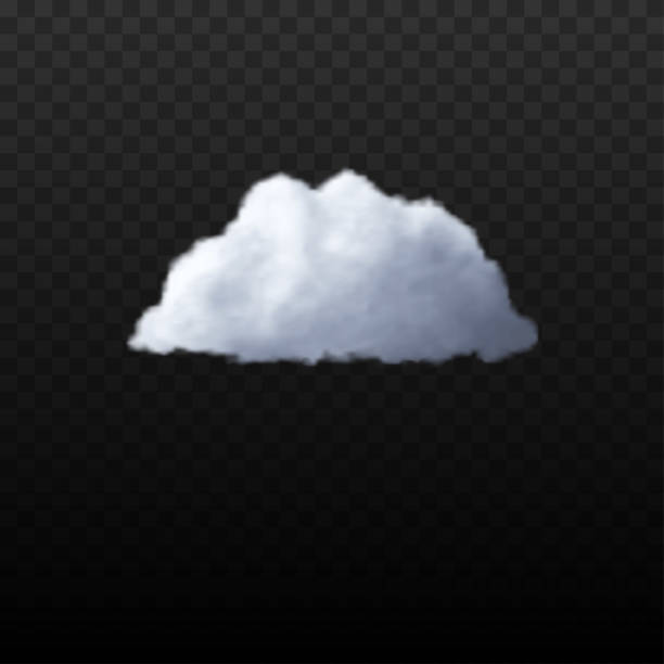 Realistic cloud on the transparent background Vector stock photo