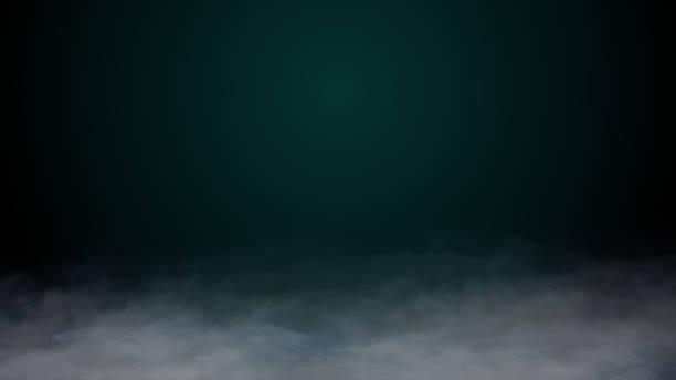 現実的な雲は、地面に霧ドライアイスを煙ハロウィーンのテーマ、アニメーション3dレンダリング - halloween ストックフォトと画像