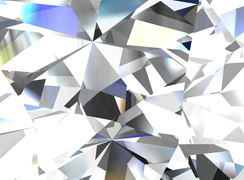 Realistic Diamond Texture Close Up 3d Illustration Stock Photo - Download Image Now - iStock
