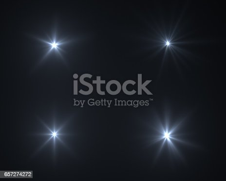 istock Realistic digital lens flare in black background 657274272