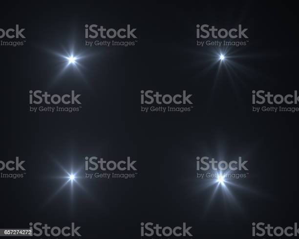 Photo of Realistic digital lens flare in black background