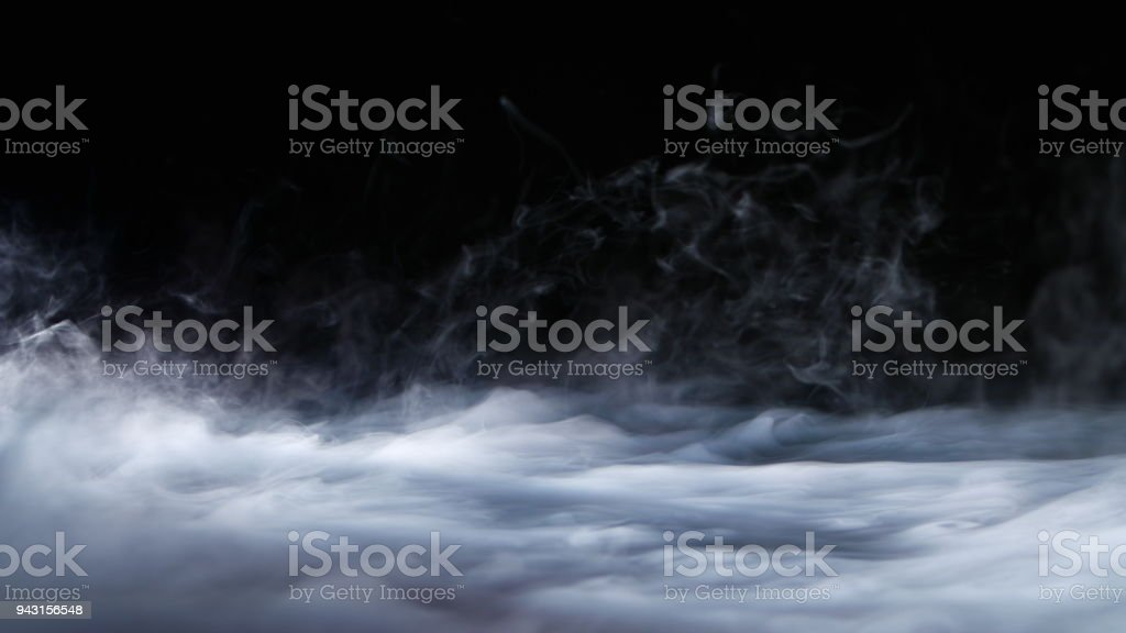 Realistic Dry Ice Smoke Clouds Fog Overlay stock photo