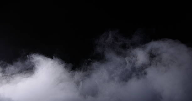 realistic dry ice smoke clouds fog - smoke стоковые фото и изображения