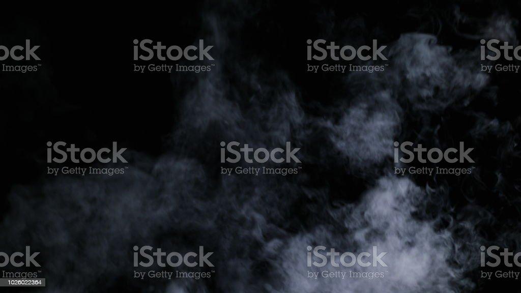 Realistic Dry Smoke Clouds Fog stock photo