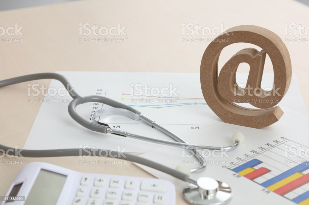 Realistic e-mail sign block letter email symbol stock photo