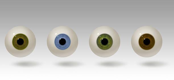 Realistic eyeball illustration stock photo