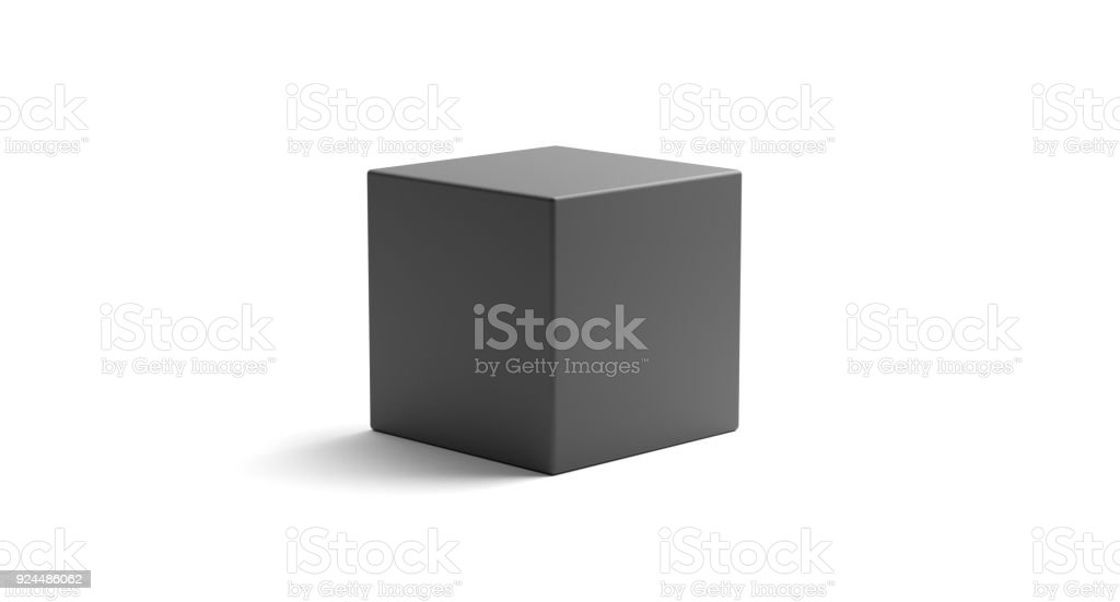 Realistic Looking Geometric Cube Object stock photo