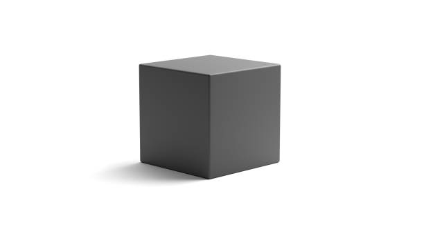 realistic looking geometric cube object - cube shape stock pictures, royalty-free photos & images
