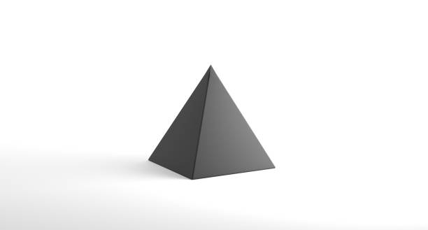realistic looking geometric pyramid object - pyramid stock photos and pictures