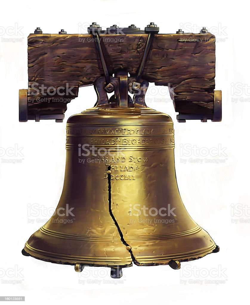 Realistic looking illustration of the Liberty Bell stock photo