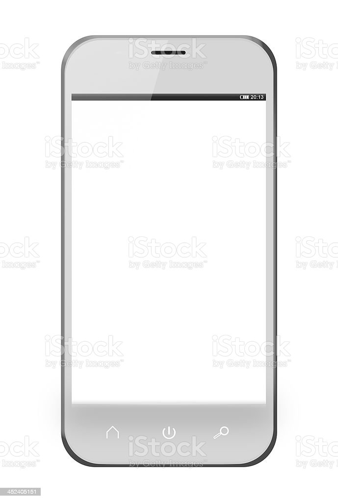 Realistic mobile phone similar to iphone royalty-free stock photo