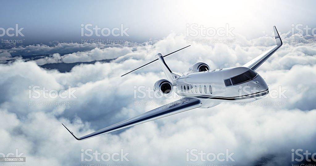 Realistische Foto der weißen Luxus allgemeiner Design Private jet-Flugzeug – Foto