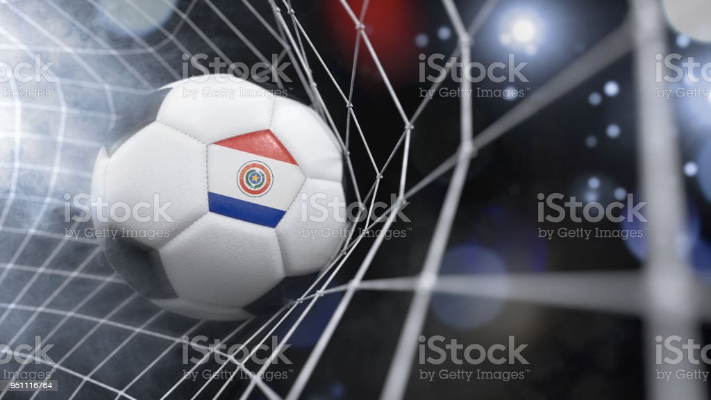 Bola de futebol realista na net com a bandeira do paraguai imagens bola de futebol realista na net com a bandeira do paraguai srie de ilustrao stopboris Choice Image
