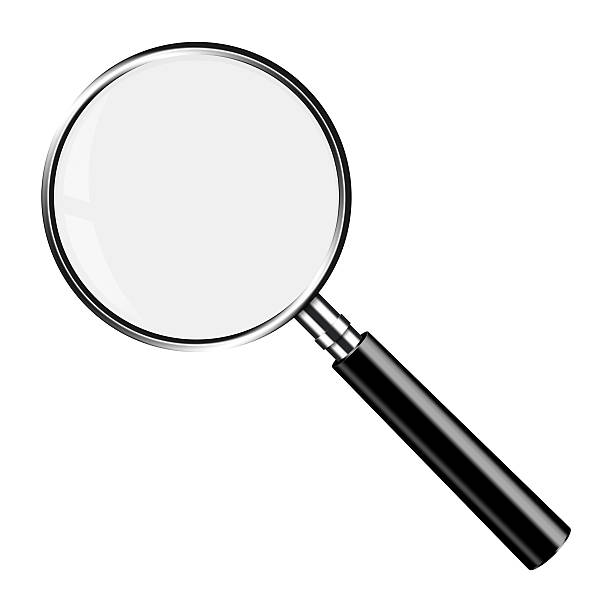 Realistic Vector Magnifying Glass Lupe stock photo