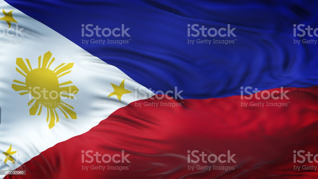 Filippinerna realistiska viftande flagga bakgrund - Royaltyfri Abstrakt Bildbanksbilder