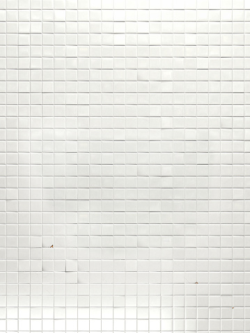istock Realistic white tile wall - 3D 1171336512