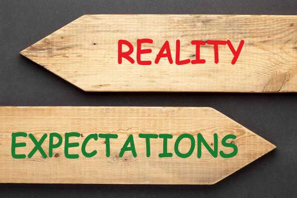 conceito das expectativas da realidade - antecipação - fotografias e filmes do acervo
