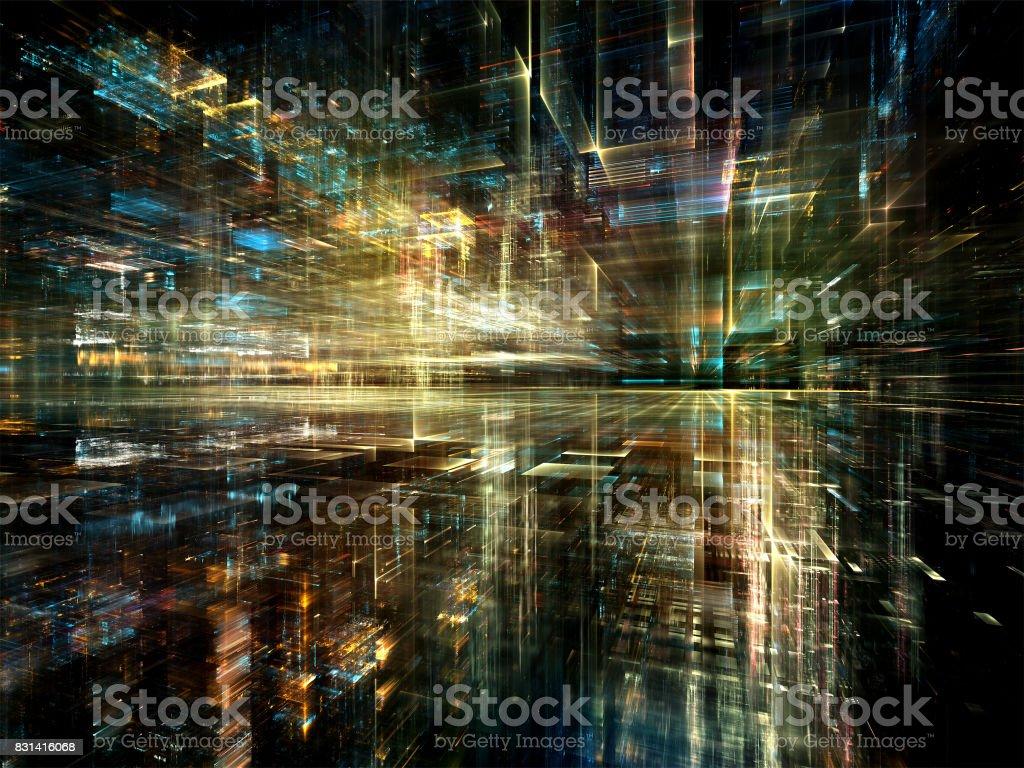 Reality of Digital World stock photo