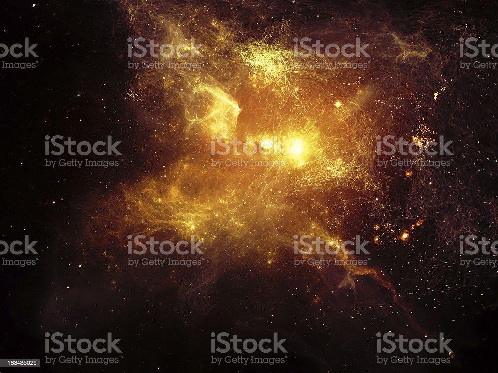 Reality of Fractal Nebulae stock photo